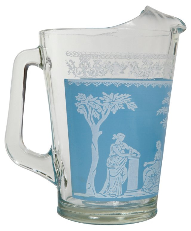 Neoclassical Blue Pitcher