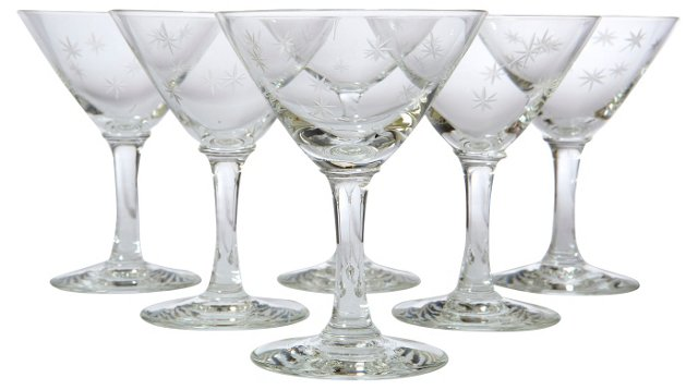 Art Deco   Martini Glasses, S/6