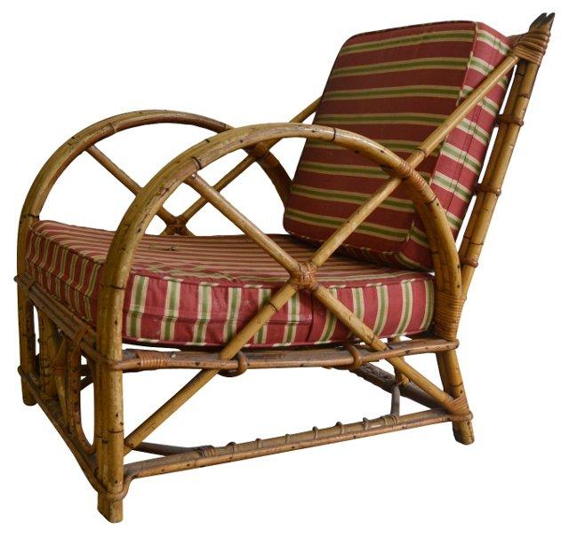 1950s Rattan Lounge Chair