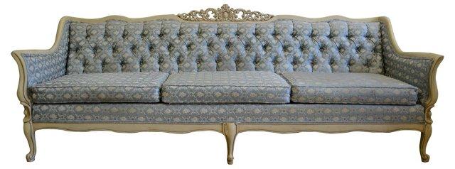 Tufted Provençal-Style Sofa