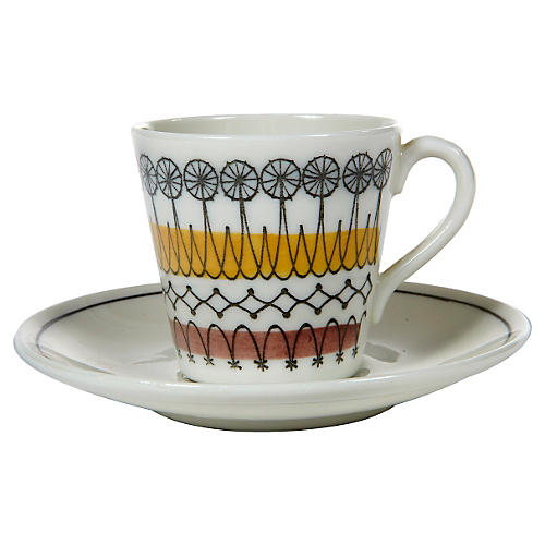 1960s Swedish Cup & Saucer