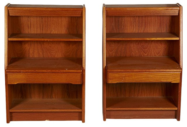 1960s Danish Nightstands, Pair
