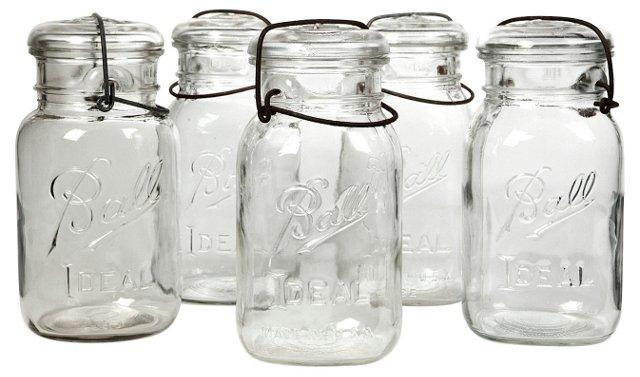 Kitchen    Canning Jars, S/5