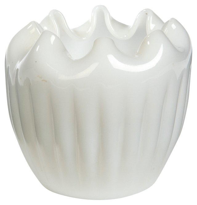White Pinched-Top Vase