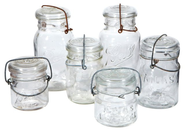 Canning Jars, S/6