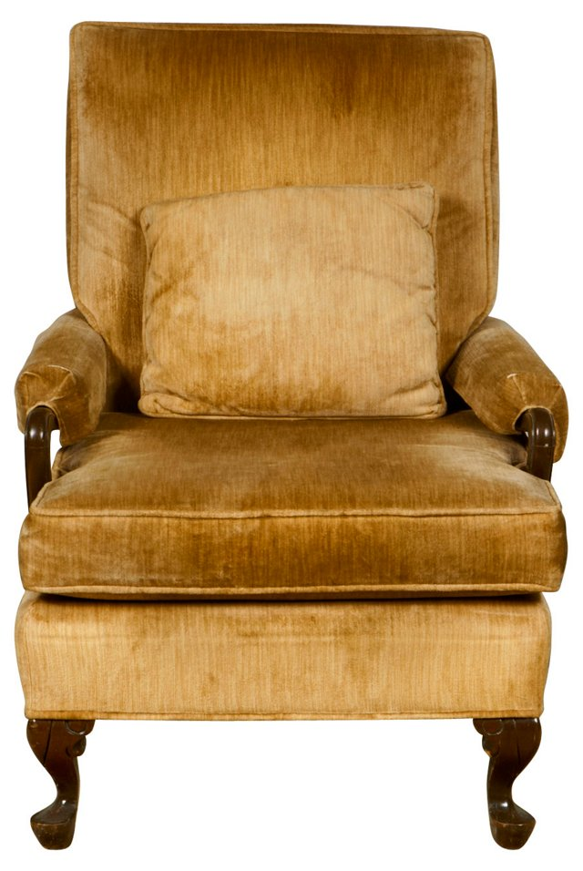 1930s Upholstered Lounge Chair