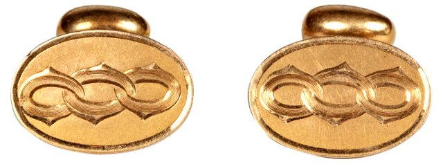 1960s Gilt Cuff Links