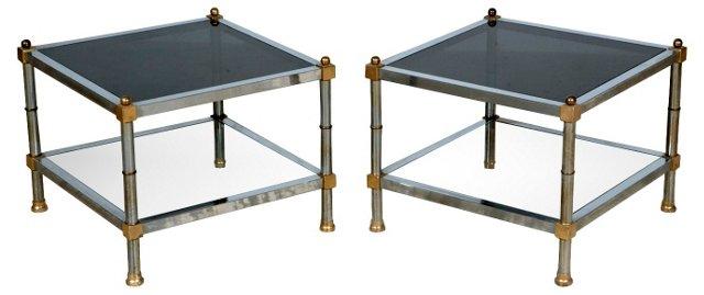 1970s Chrome Side Tables, Pair