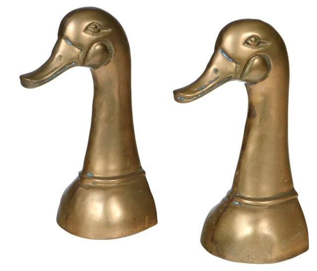 Gilt Duck Bookends