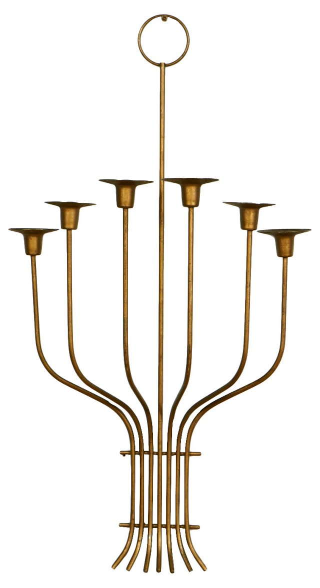 1960s Gilt Wall Sconce