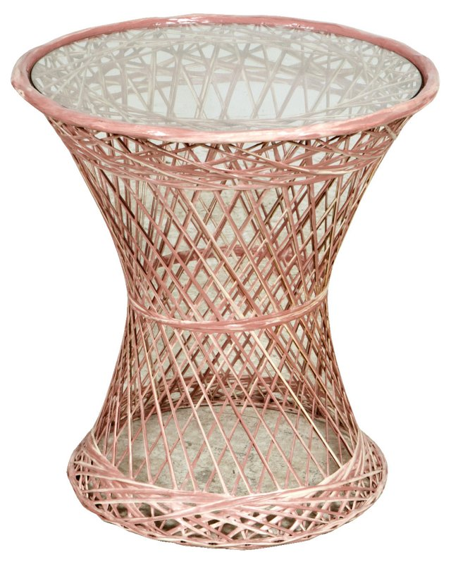 1960s Pink Woodard Round Table