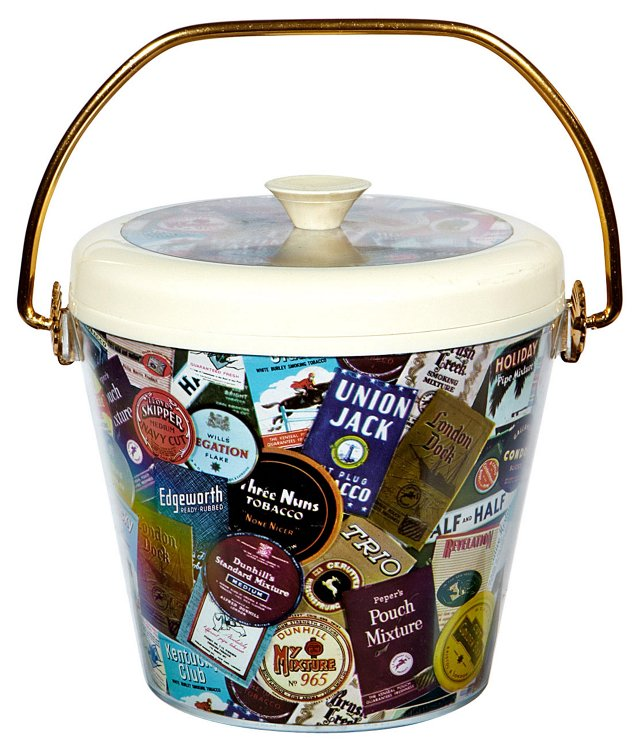 1960s Advertising Ice Bucket