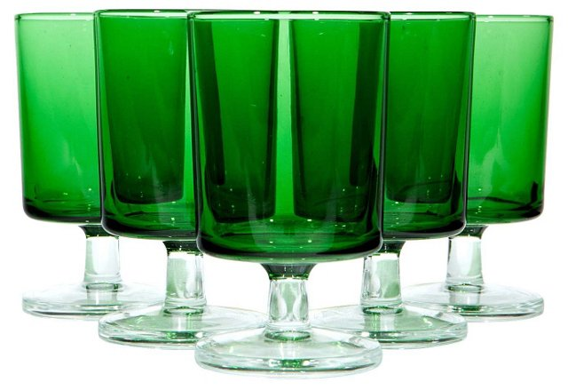 French Emerald Green Stems, S/5