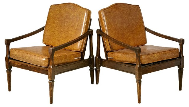 1960s Lounge    Chairs, Pair
