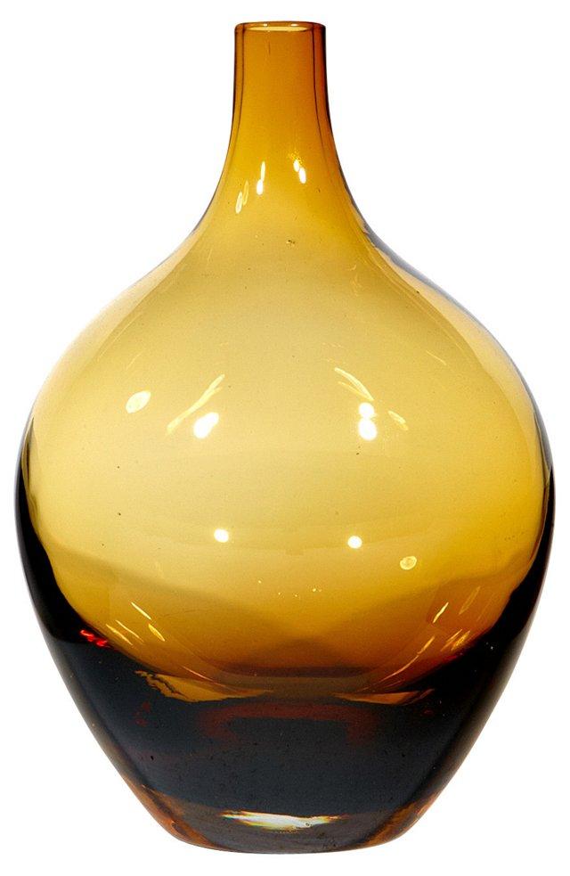 Amber Demijohn-Style Bottle