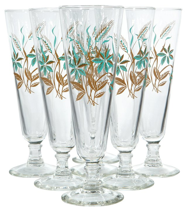 1960s Floral Pilsners, S/7
