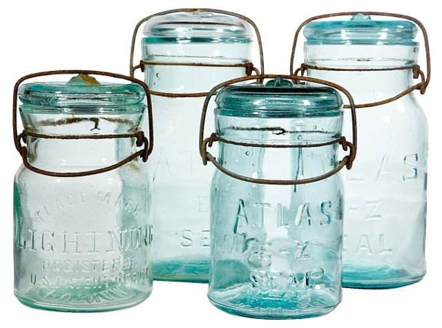 Collection of Canning Jars, S/4