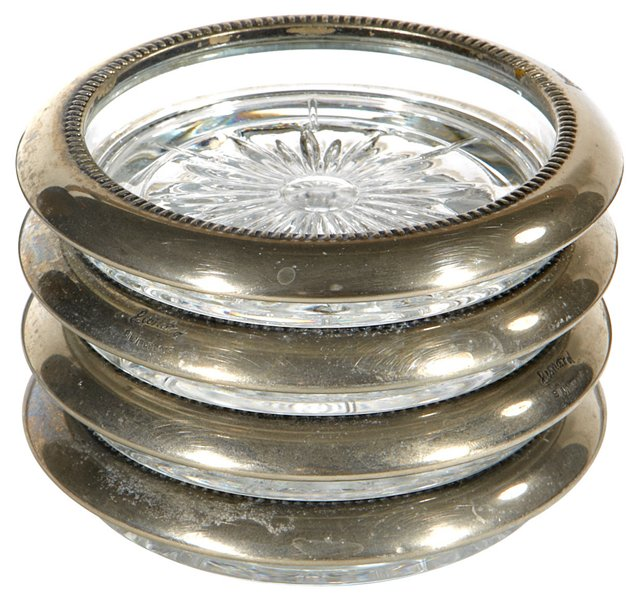 Silverplate Coasters, S/4
