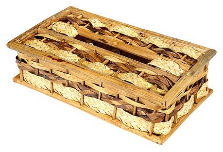 Woven Rattan Tissue Box