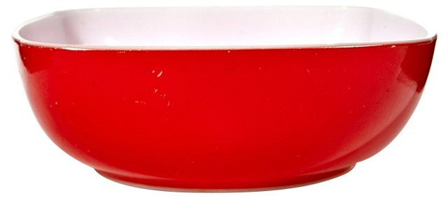 Red Square Glass Bowl