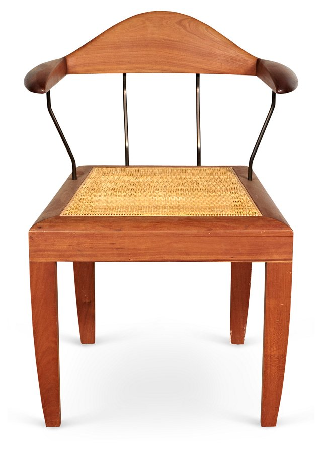 Teak Chair w/ Caned Seat