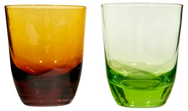 Multicolored Shots Glasses, Pair
