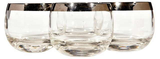 Dorothy Thorpe Silver-Rim Glasses, S/4