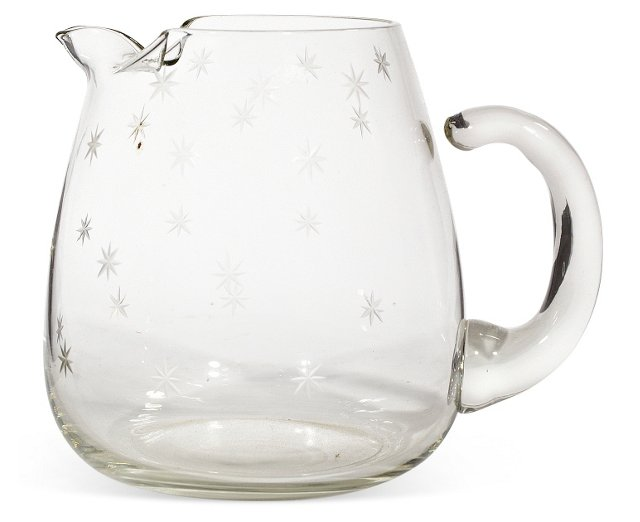 1950s Etched Star Pitcher