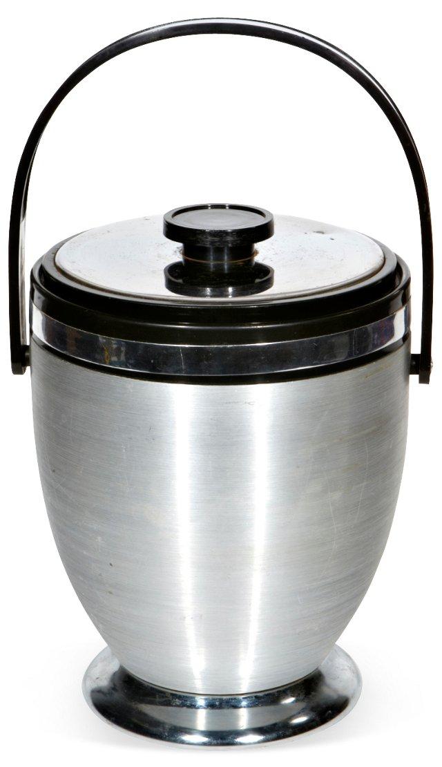 1960s Brushed Aluminum Ice Bucket