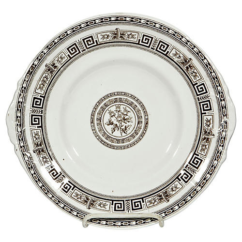 English Pompeii Scene Serving Plate