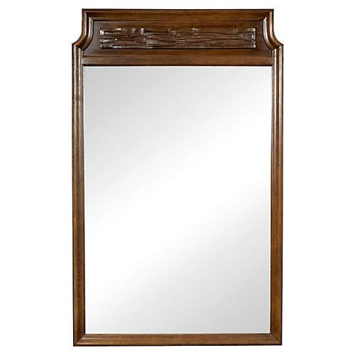 1960s Thomasville Brutalist-Style Mirror