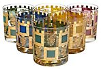 Gilt Crest Old Fashioned Glasses, S/6