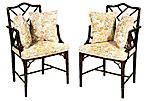 1960s Faux-Bamboo Armchairs, Pair