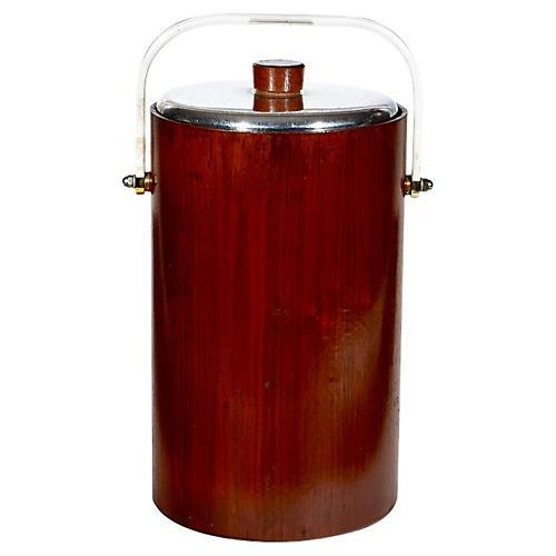 1950s Walnut Ice Bucket