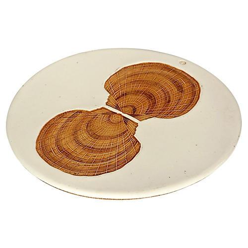 Clam-Shell Ceramic Trivet