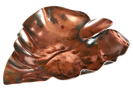 Copper Leaf Ashtray