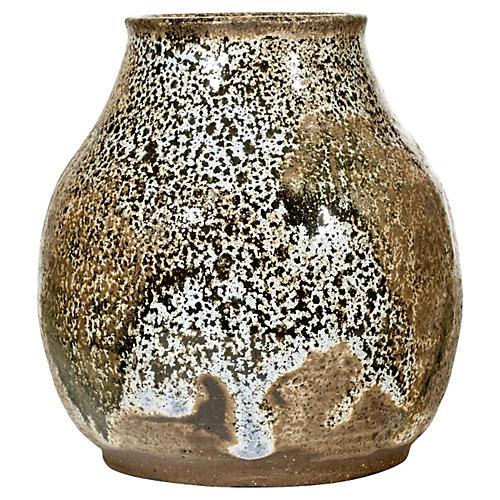 1960s Handmade Pottery Vase
