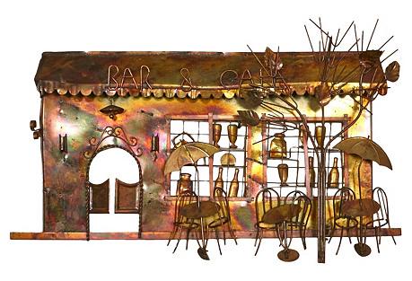 1970s Bar & Cafe Wall Sculpture