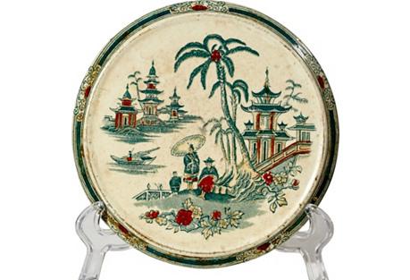 Asian-Style Round Ceramic Trivet
