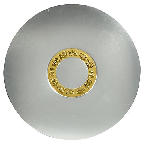 Art Deco Aluminum Zodiac Serving Tray