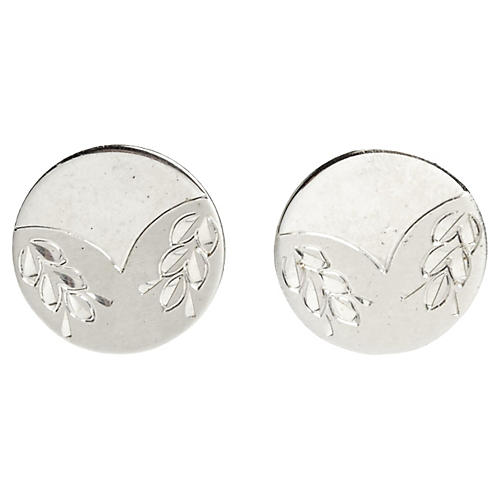 1960s Sterling Wreath Cuff Links, Pr