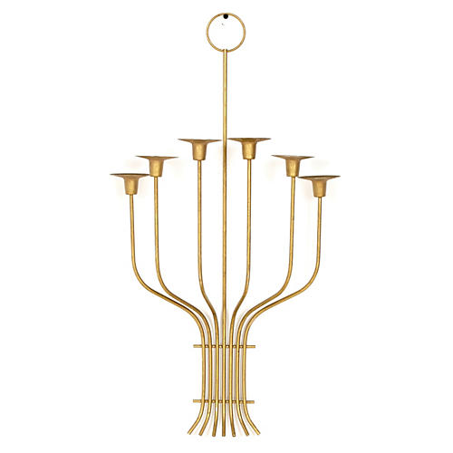 Gilt Metal Wall Candleholder
