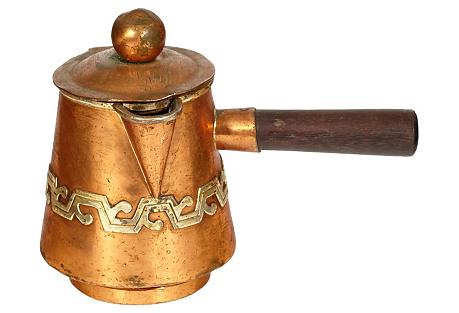 Copper & Rosewood Handled Pourer