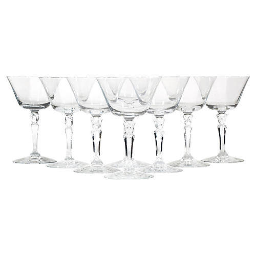1960s Fostoria Glass Coupes, S/8