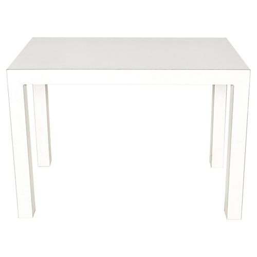 1970s White Console Table