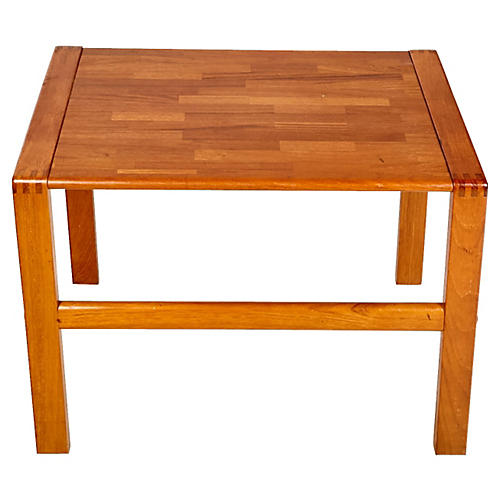 1970s Teak Dovetail Side Table