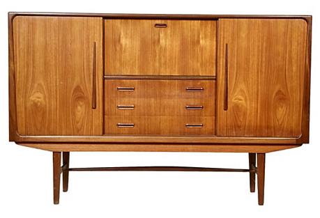 1960s Danish Teak Side Board Cabinet