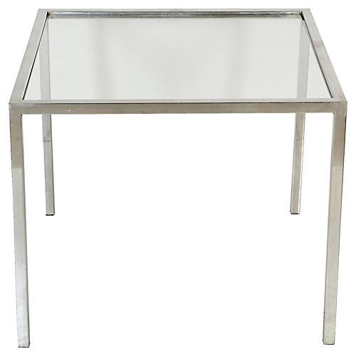 1970s Milo Baughman-Style Chrome Table