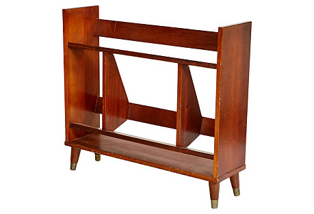 1960s Wood Book Shelf