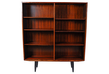 1960s Danish Rosewood Bookcase